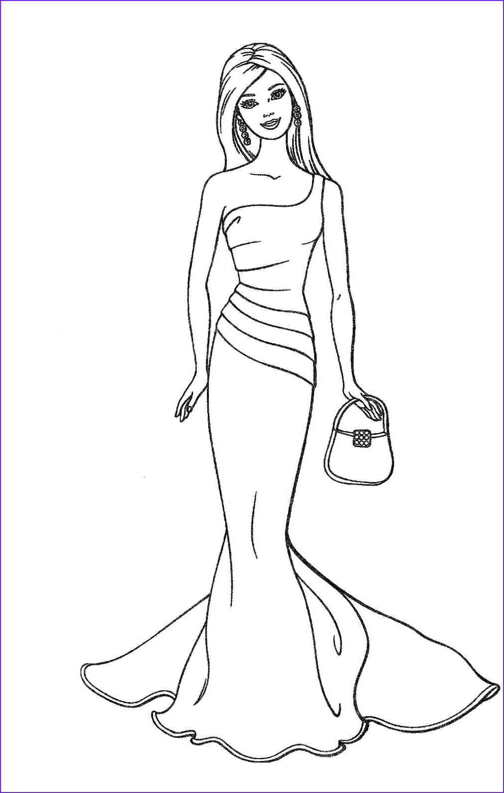 Fashion Coloring Cool Collection Barbie Fashion Coloring Page
