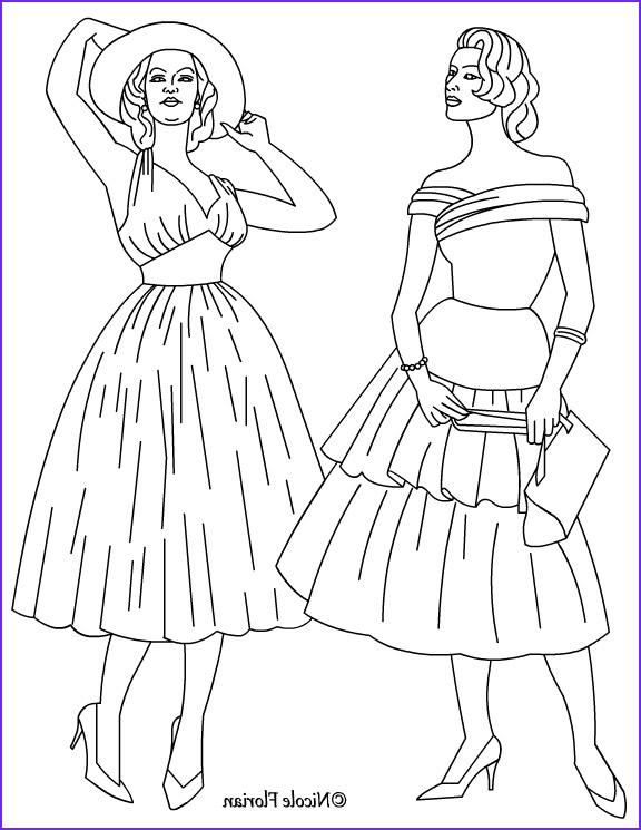Fashion Coloring New Gallery Nicole S Free Coloring Pages Vintage Fashion Coloring Pages