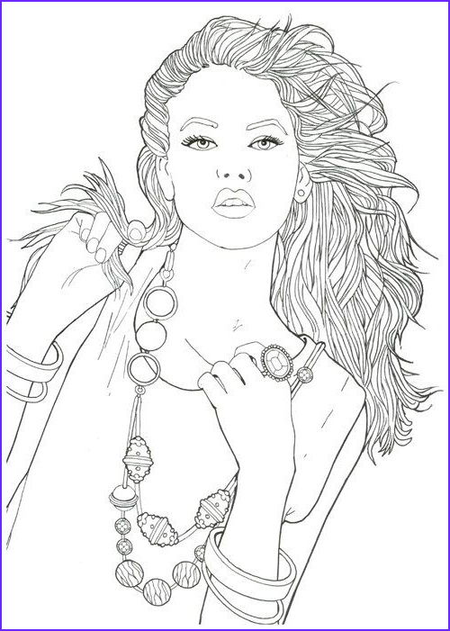 Fashion Coloring Unique Gallery Creatrice De Mode Fashion Coloring Book for Adult by