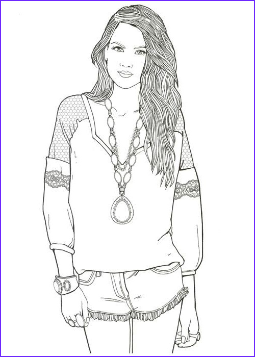 Fashion Coloring Unique Gallery Fashion Designer with the 80 Models Coloring Book by