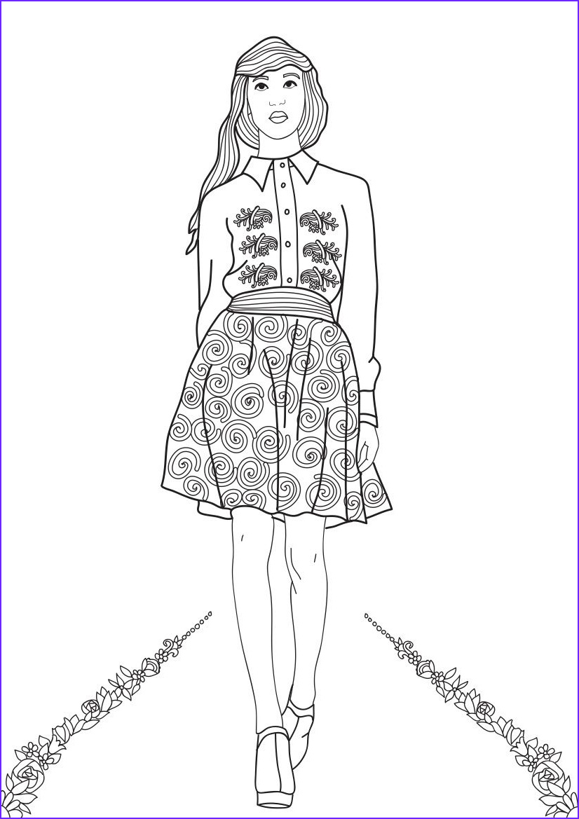 Fashion Coloring Unique Photos Fashion Show Coloring Pages for Adults