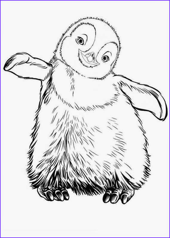 happy feet coloring pages