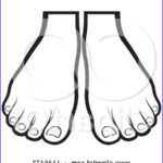 Feet Coloring Pages Beautiful Stock Clipart Of A Silhouetted Little Foot Over A Big E