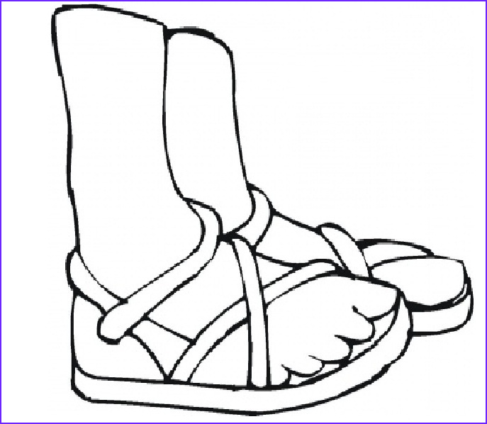 foot coloring page