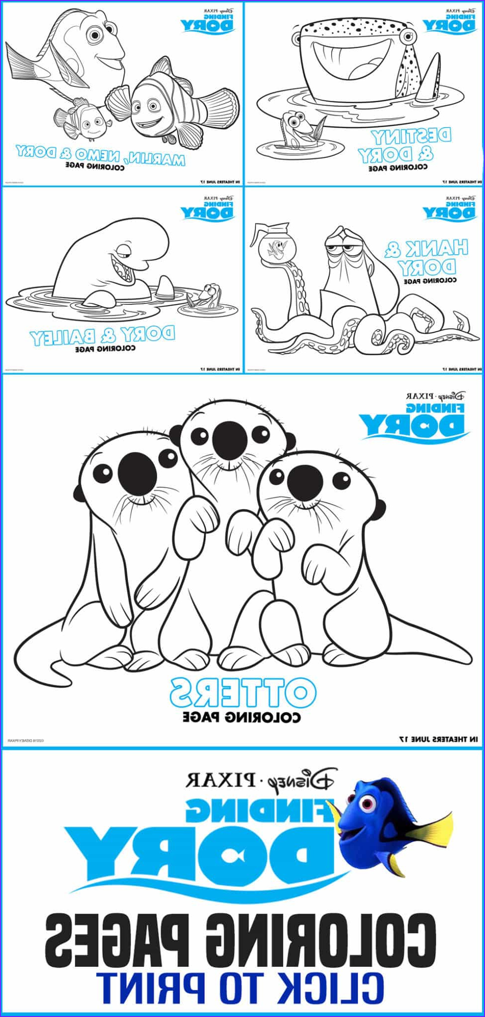free printables finding dory coloring pages