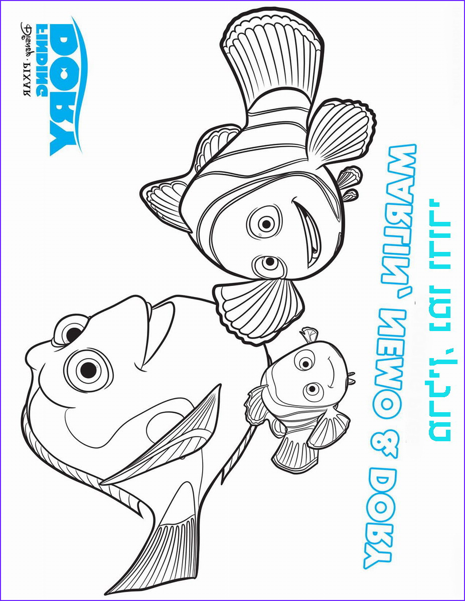 Finding Dory Coloring Cool Image Finding Dory Coloring Pages