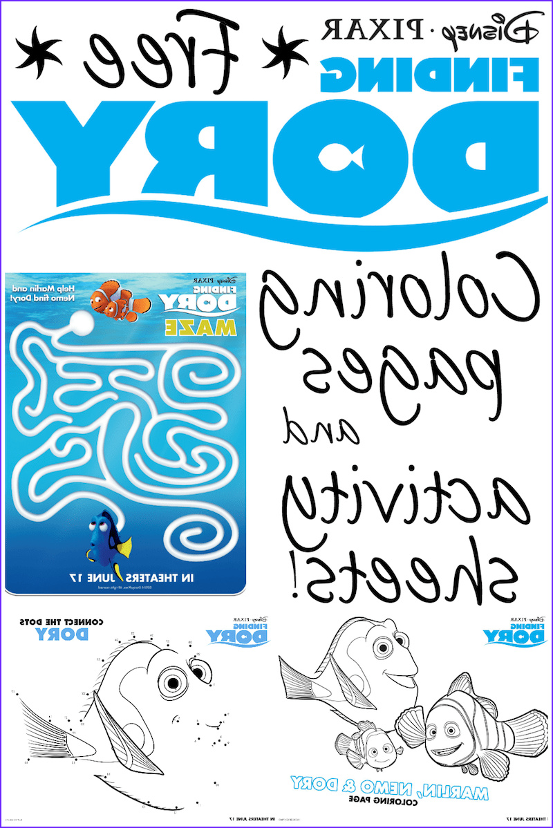 Finding Dory Coloring Elegant Photos Finding Dory Printable Coloring Pages and Activity Sheets