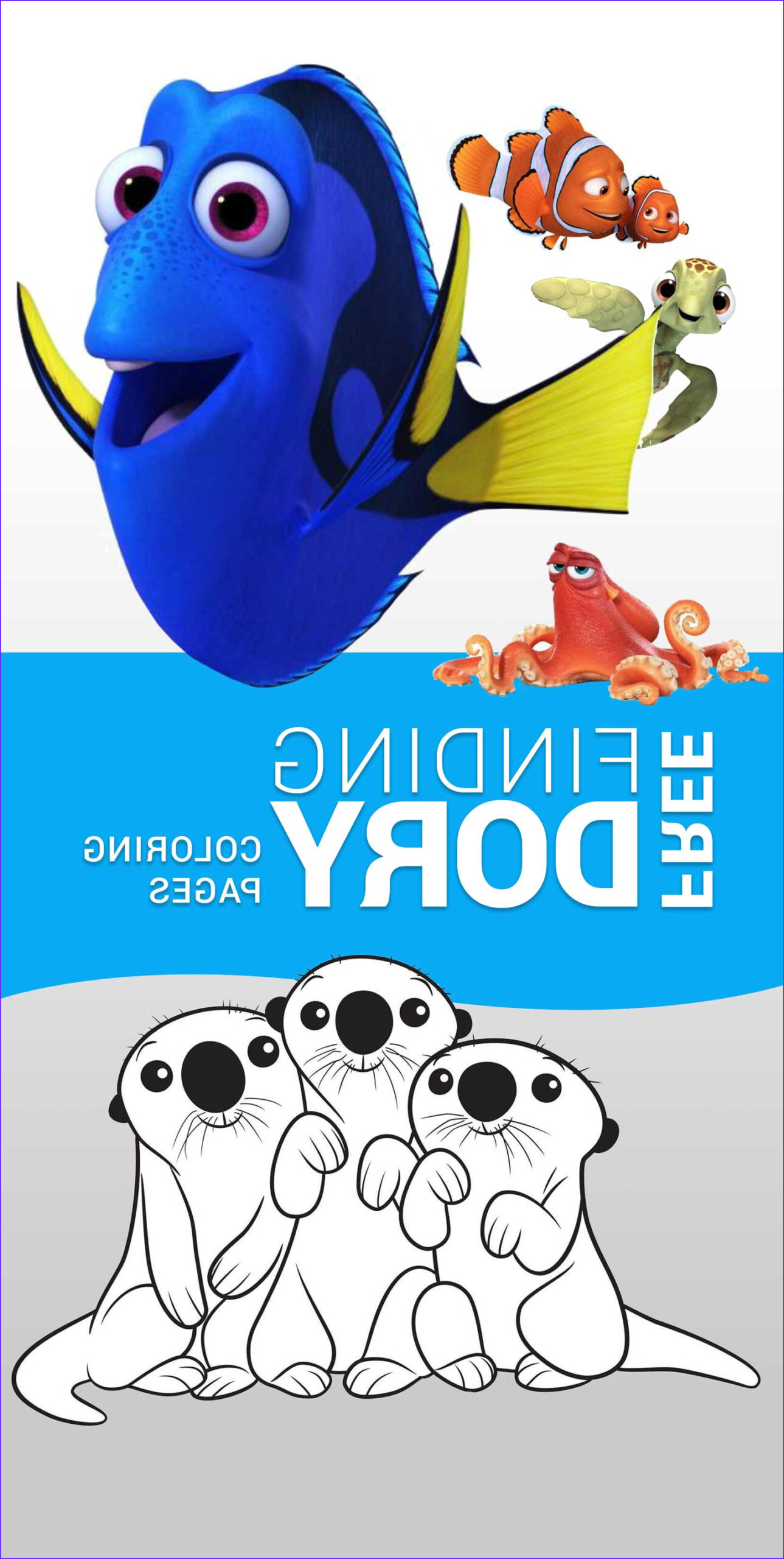 Finding Dory Coloring Elegant Stock Finding Dory Coloring Sheets Highlights Along the Way