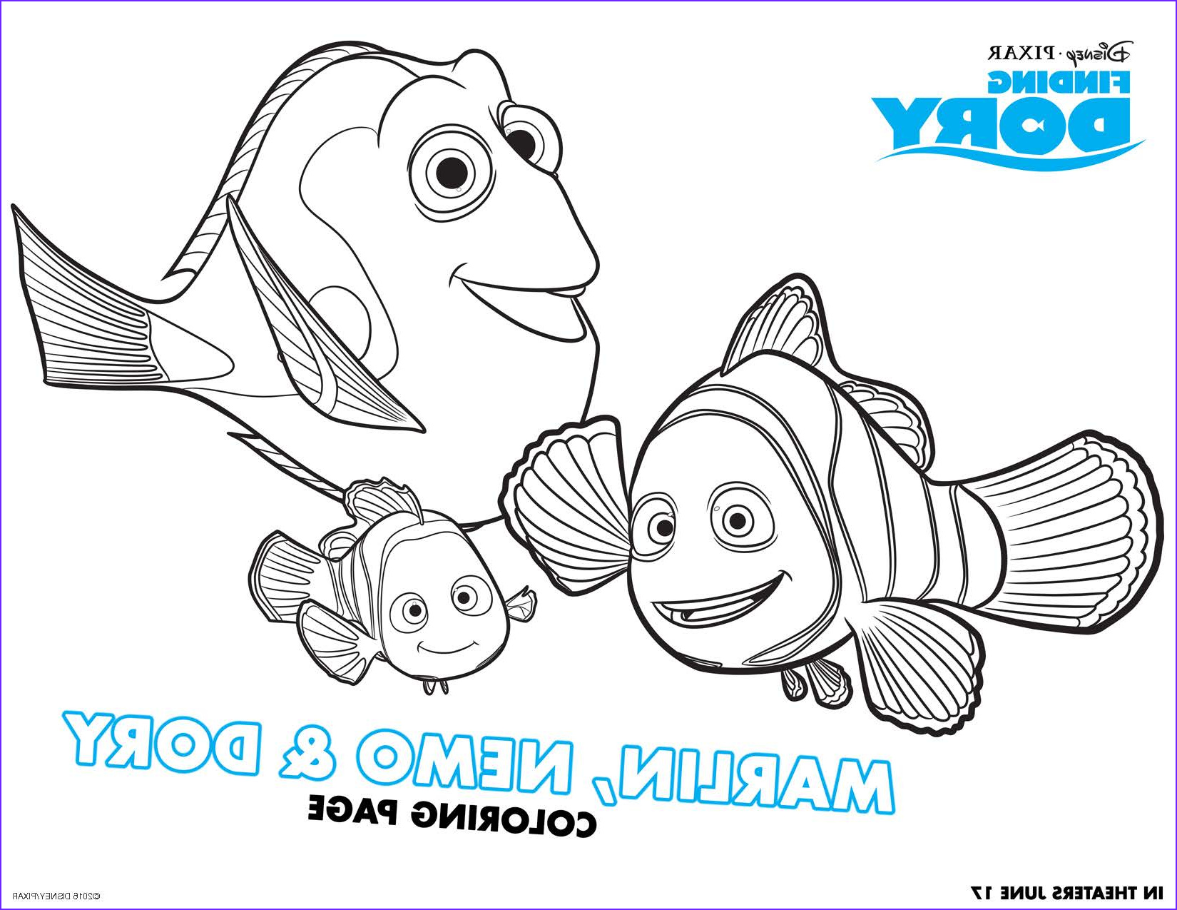 Finding Dory Coloring New Photos Finding Dory Free Printable Activities Teachable Mommy