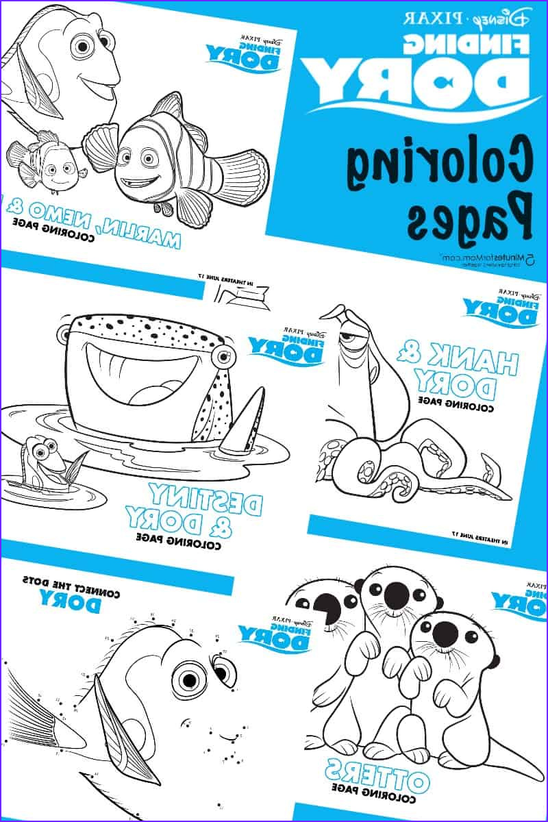 finding dory free printables coloring sheets recipes
