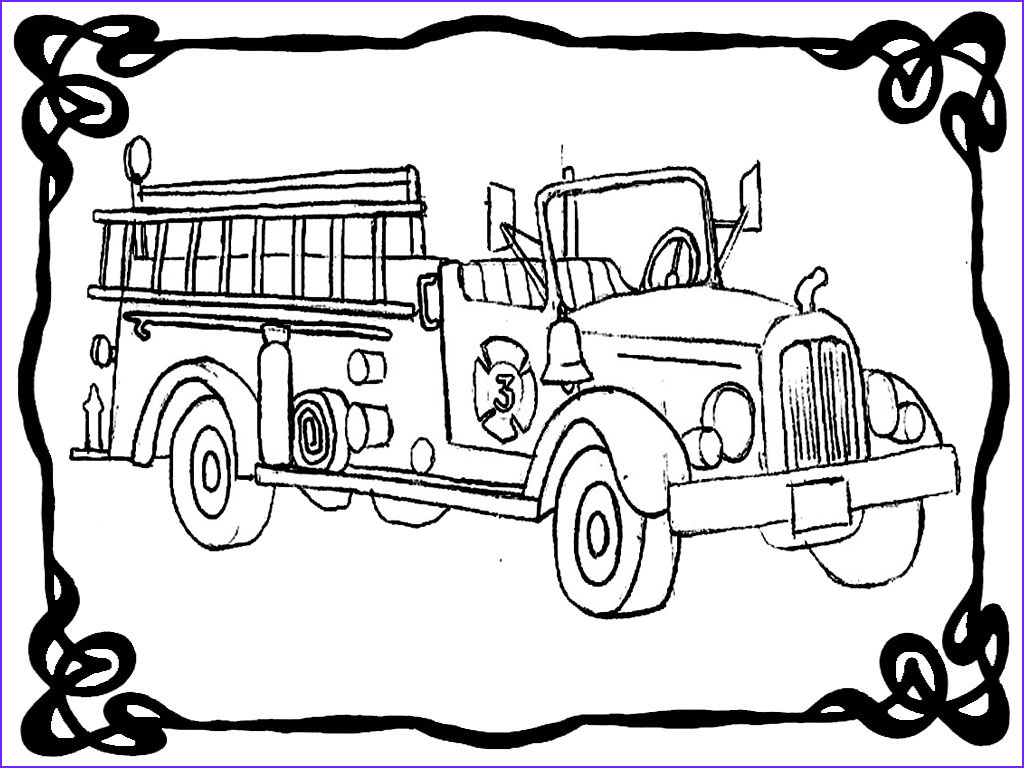 fire engine coloring book pages
