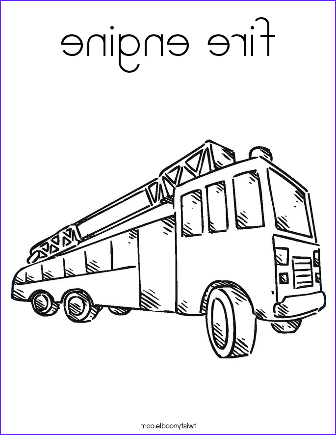 fire engine 4 coloring page
