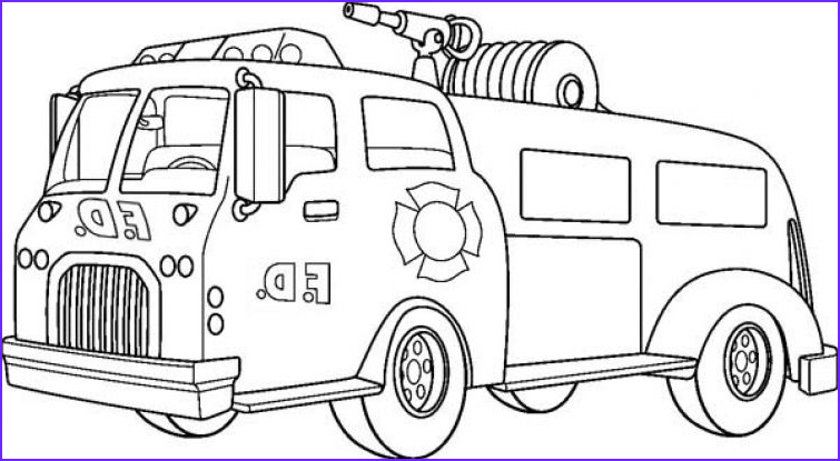 Fire Engine Coloring Page Cool Stock Pumper Truck In Online Fire Truck Coloring Page for