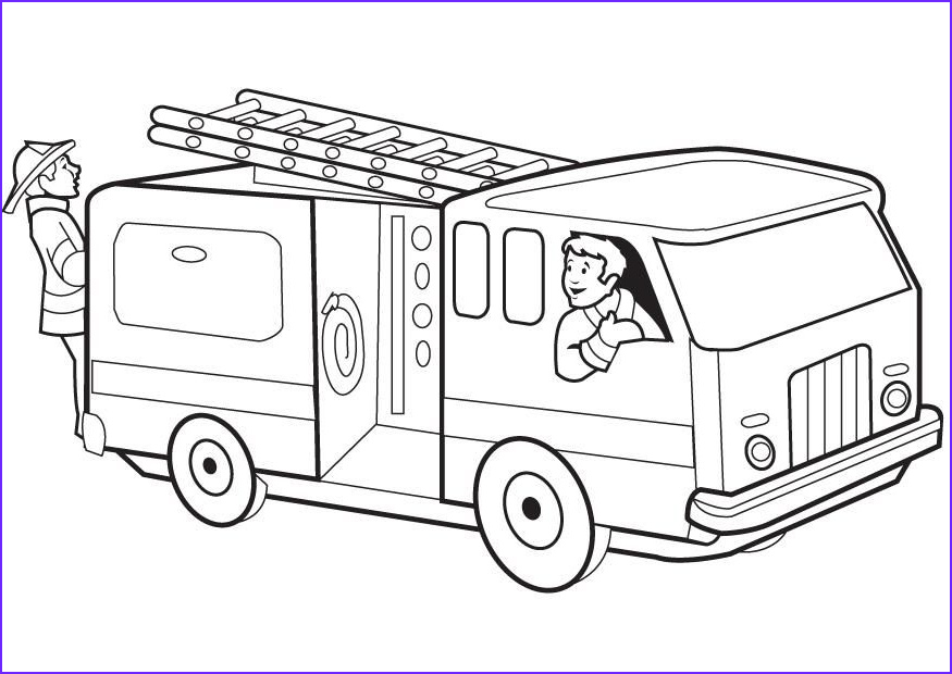 Fire Engine Coloring Page Inspirational Photography Free Printable Fire Truck Coloring Pages for Kids