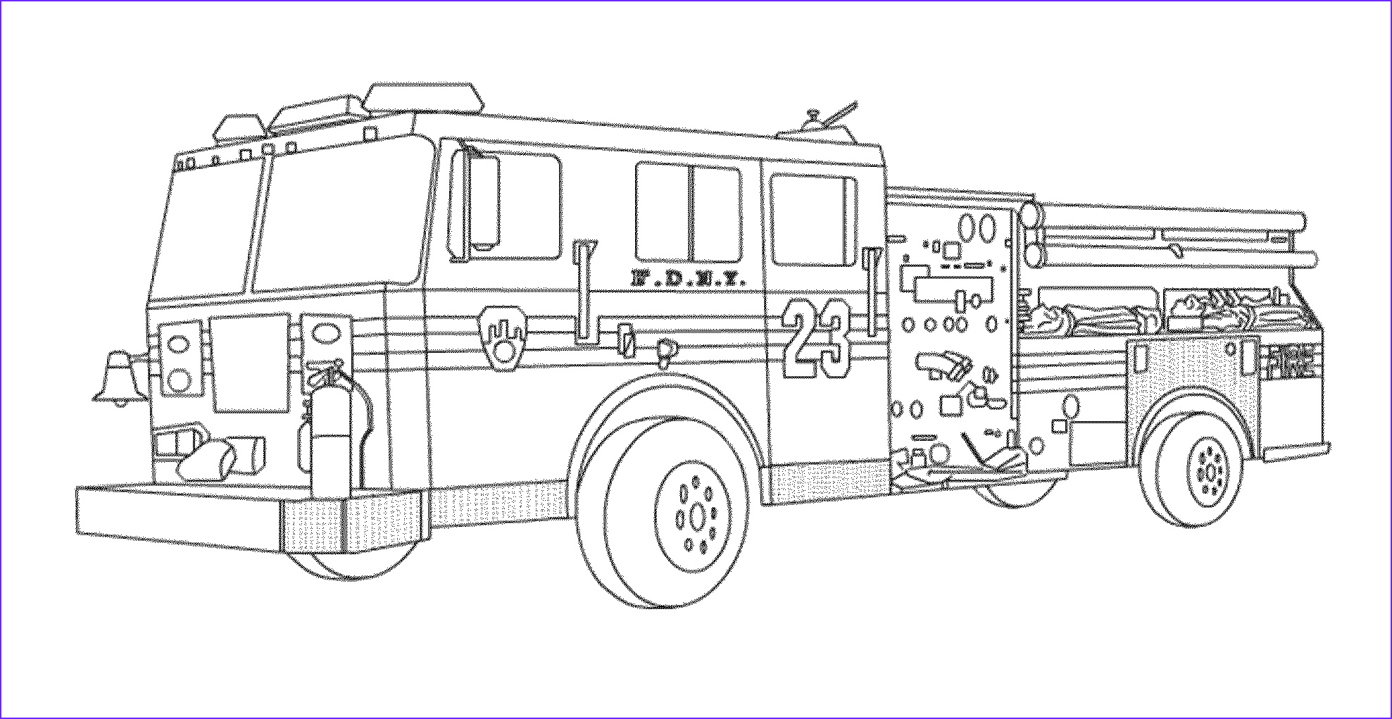 educational fire truck coloring pages giving three one benefit