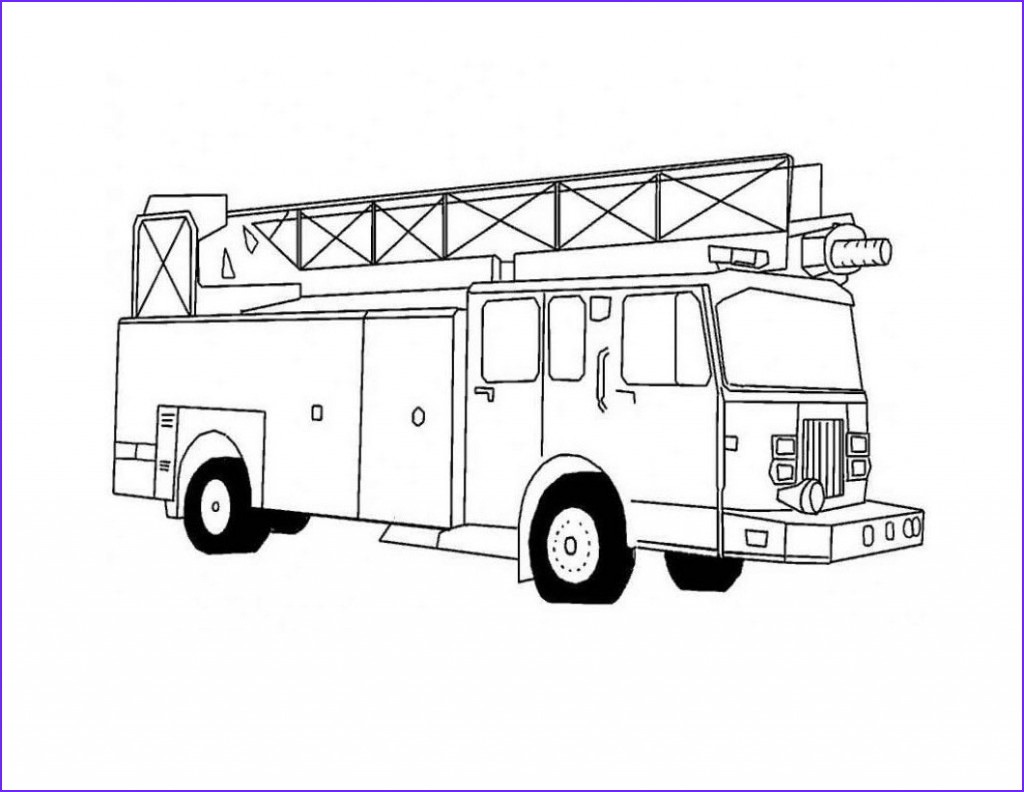 Fire Truck Coloring Pages Beautiful Photos Free Printable Fire Truck Coloring Pages for Kids