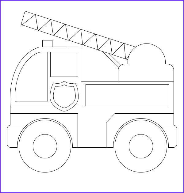 Fire Truck Coloring Pages Beautiful Photos Simple Model Of Fire Truck Coloring Page