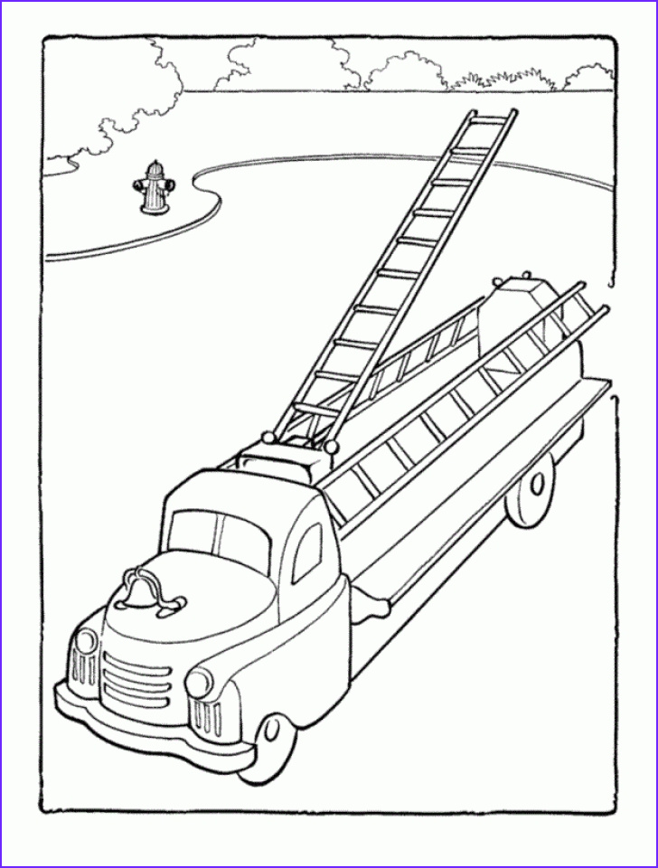 Fire Truck Coloring Pages Cool Collection 20 Free Printable Fire Truck Coloring Pages