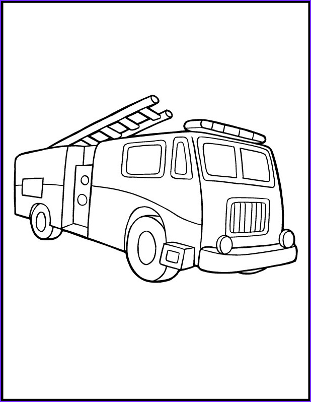 Fire Truck Coloring Pages Cool Image Free Printable Fire Truck Coloring Pages for Kids