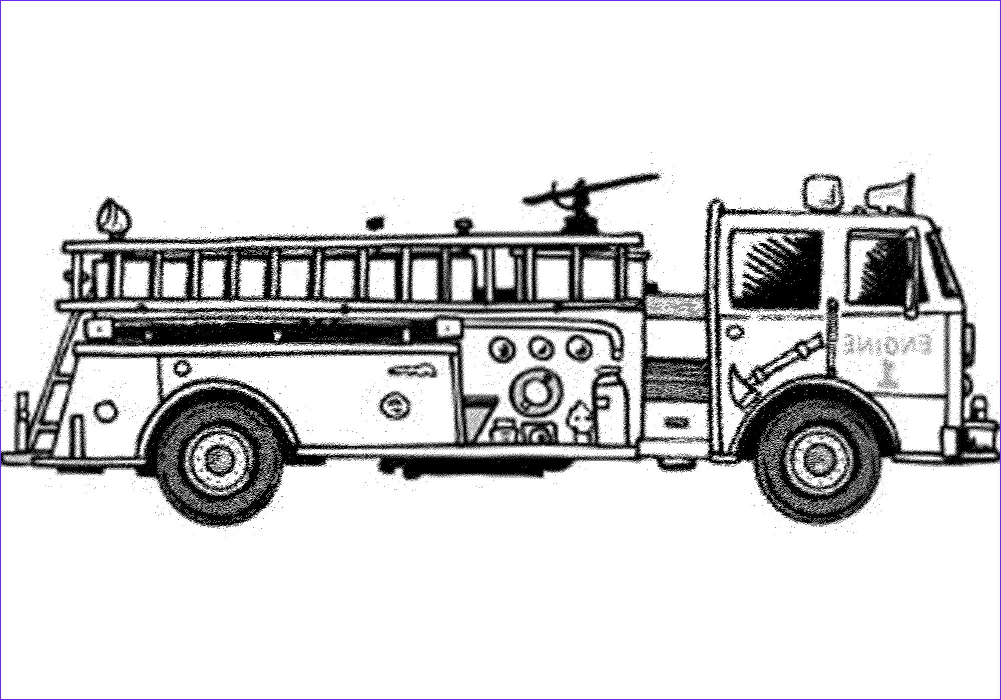 Fire Truck Coloring Pages Cool Photos Print & Download Educational Fire Truck Coloring Pages
