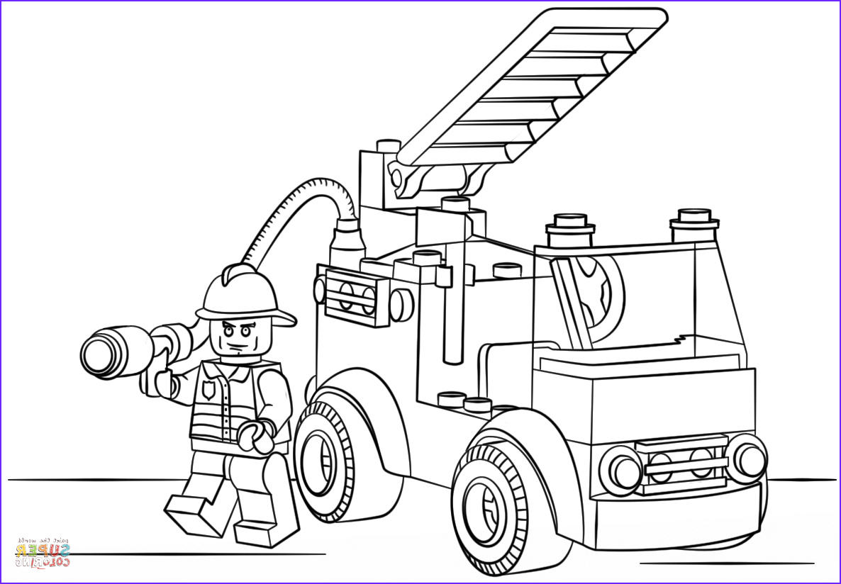Fire Truck Coloring Pages Elegant Images Lego Fire Truck Coloring Page