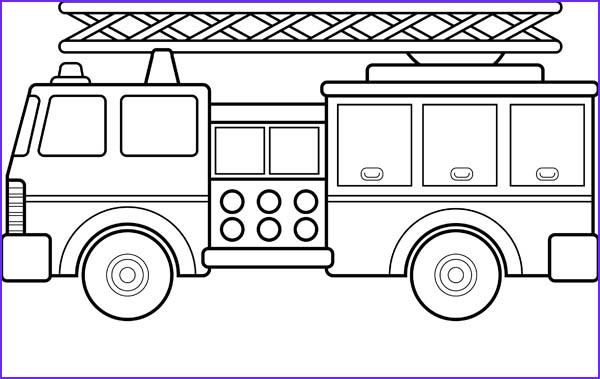 Fire Truck Coloring Pages Unique Image Fire Truck and Ladder Coloring Page