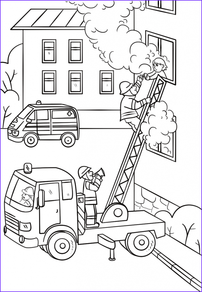 Firefighters Coloring Pages Inspirational Images Fire Coloring Pages Best Coloring Pages for Kids