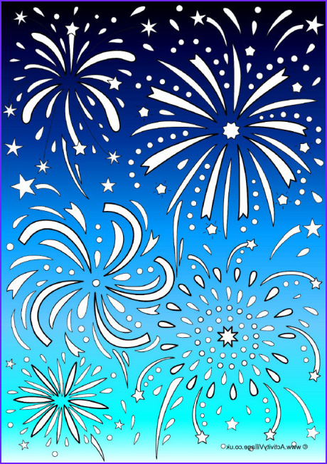 fireworks colour pop colouring page