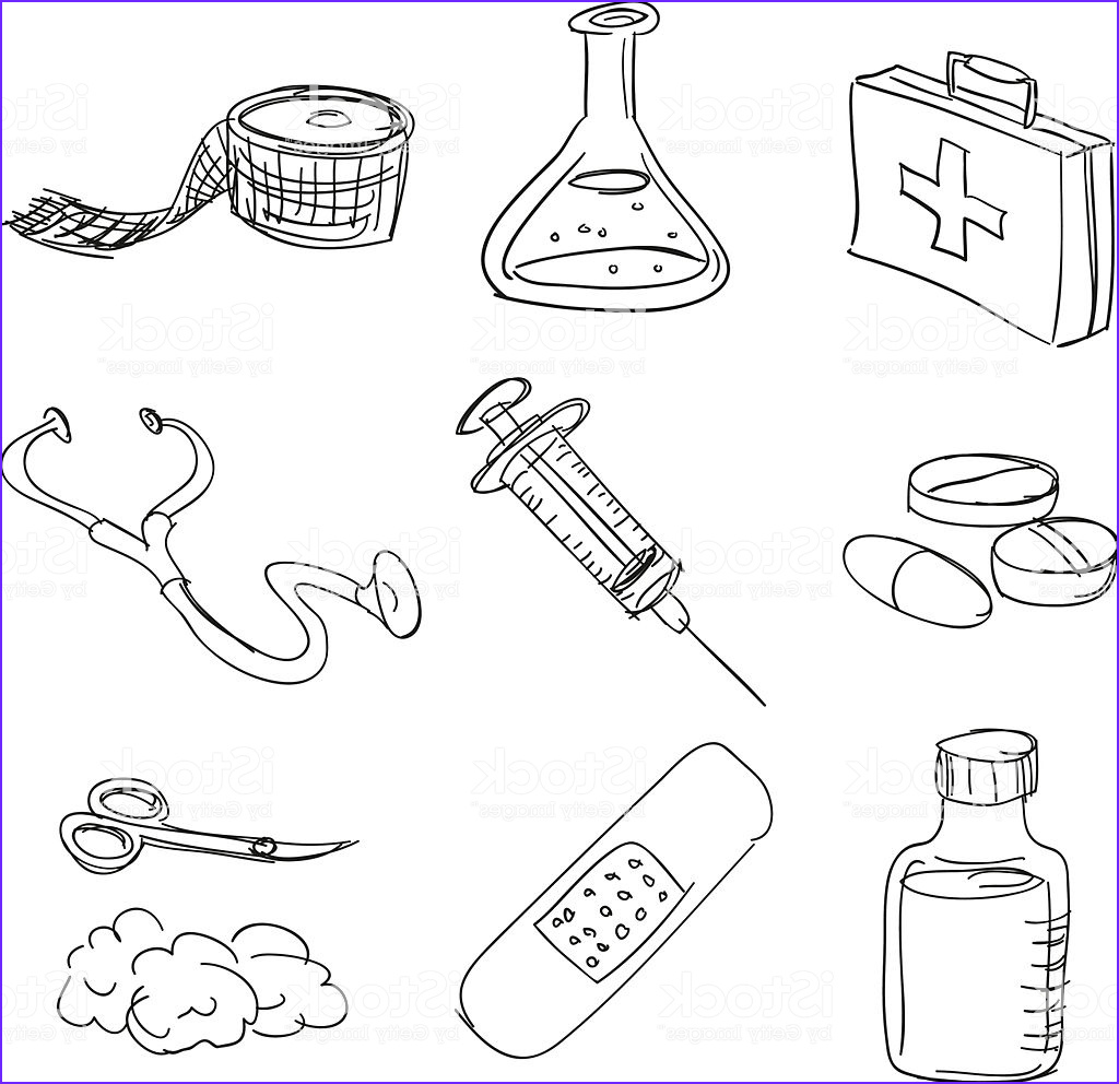 First Aid Coloring Pages Unique Photos First Aid Kit In Sketch Style Stock Vector Art