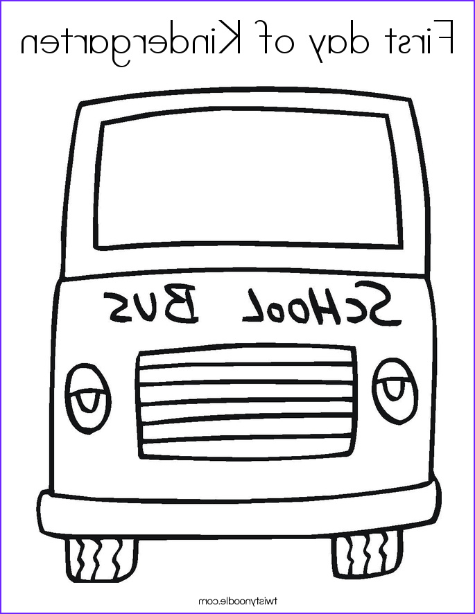 first day of kindergarten 4 coloring page
