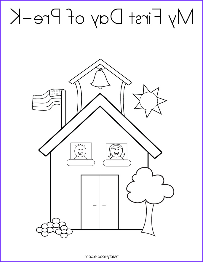 my first day of pre k coloring page