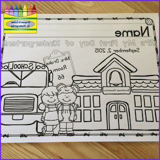 first day of school coloring page