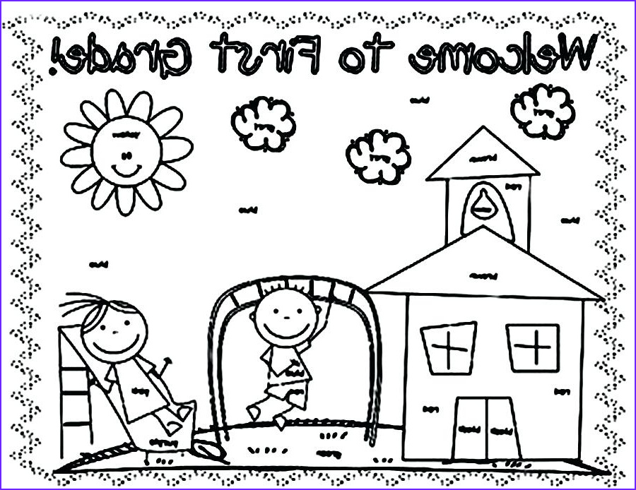 first day of school coloring pages for preschoolers