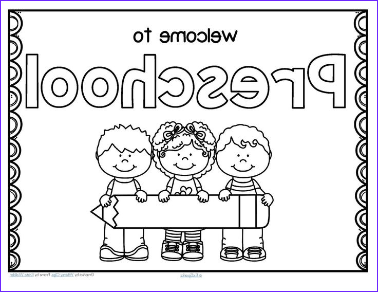 First Day Of Preschool Coloring Pages Inspirational Collection Free Back to School Wel E Poster for Preschool