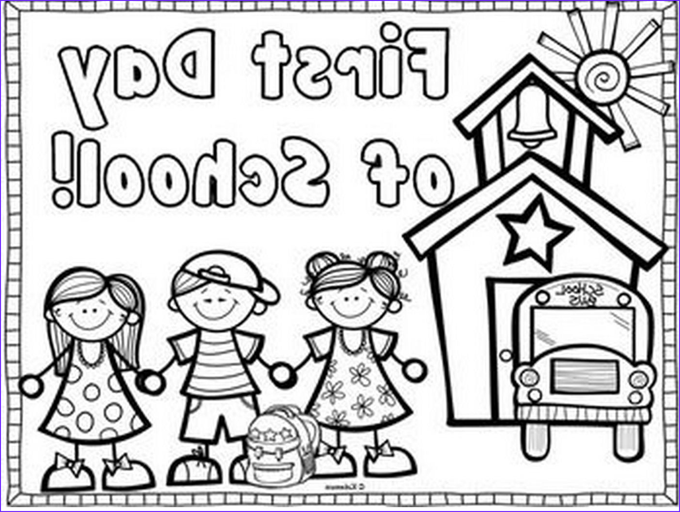 First Day Of Preschool Coloring Pages Inspirational Photos First Day Kindergarten Coloring Page Kids Coloring Page