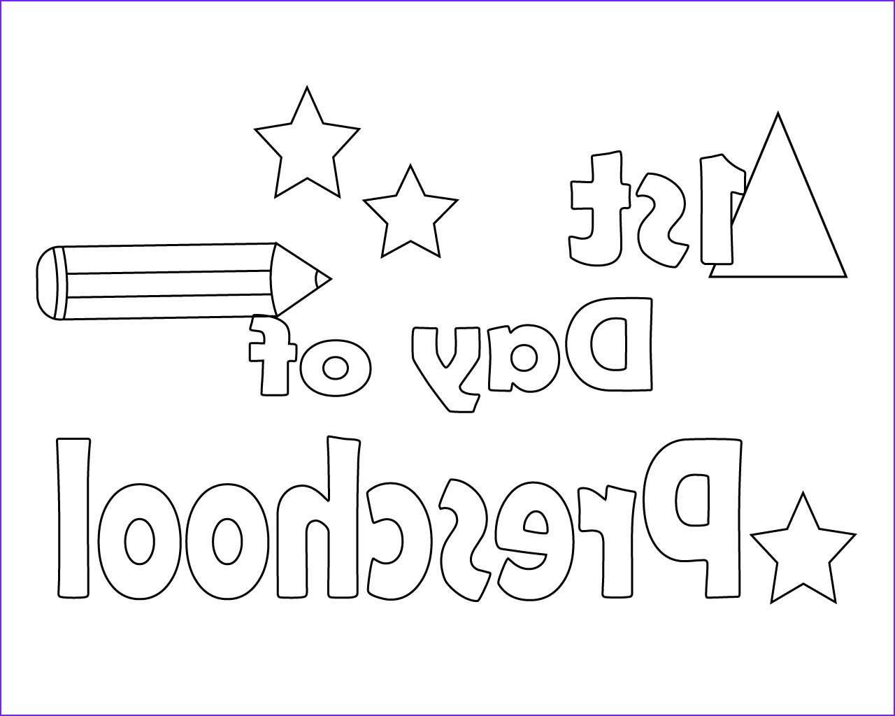 free preschool coloring pages for your little ones