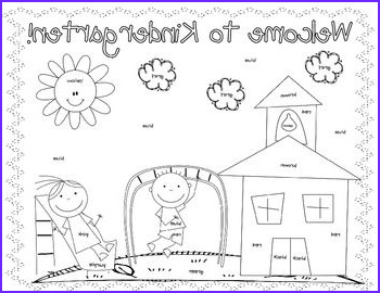 First Day Of Preschool Coloring Pages Luxury Gallery First Day Coloring Worksheet Kindergarten Christine