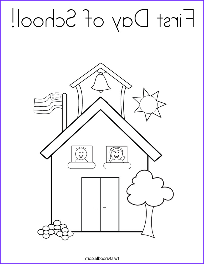 first day of school 2 coloring page