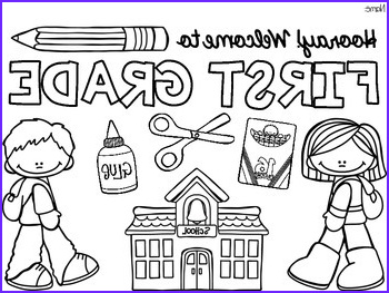 FREE Back to School Coloring Pages Pre K 5 Beginning of the Year