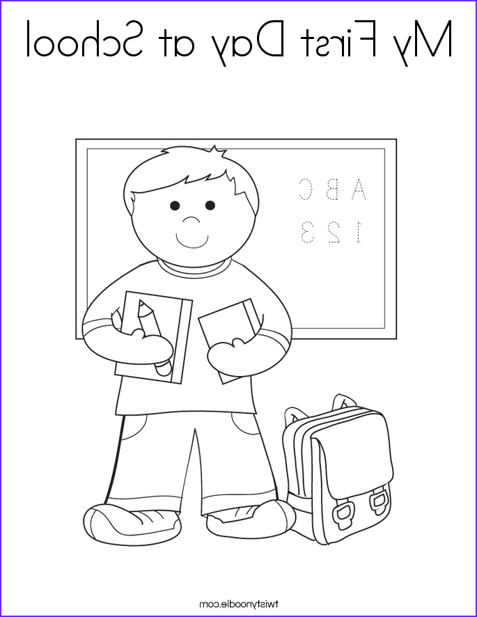 my first day at school 2 coloring page
