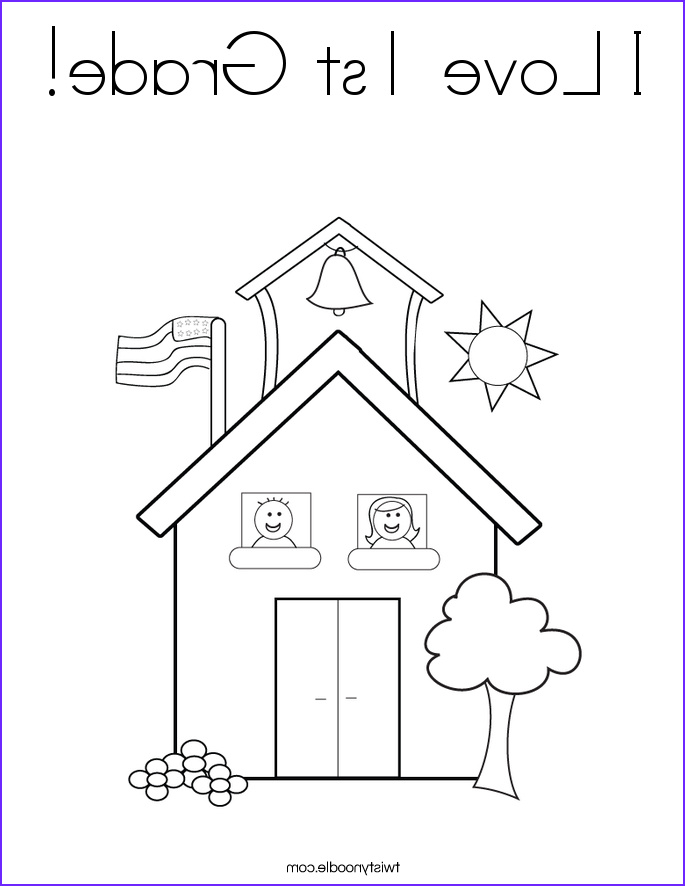 First Grade Coloring Sheets Elegant Images I Love 1st Grade Coloring Page Twisty Noodle
