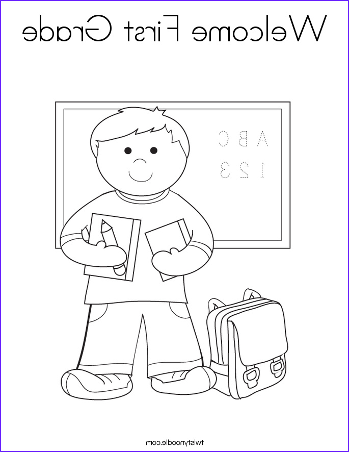 wel e first grade coloring page