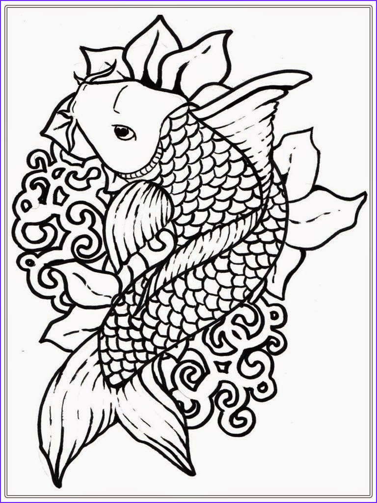 adult free fish coloring pages