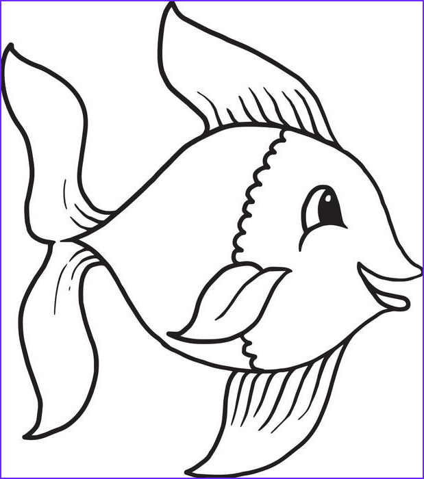 Fish Coloring Book Best Of Photos Cartoon Fish Coloring Page 1 Templates