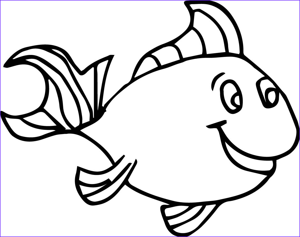 Fish Coloring Book Cool Stock Fish Coloring Pages for Kids Preschool and Kindergarten