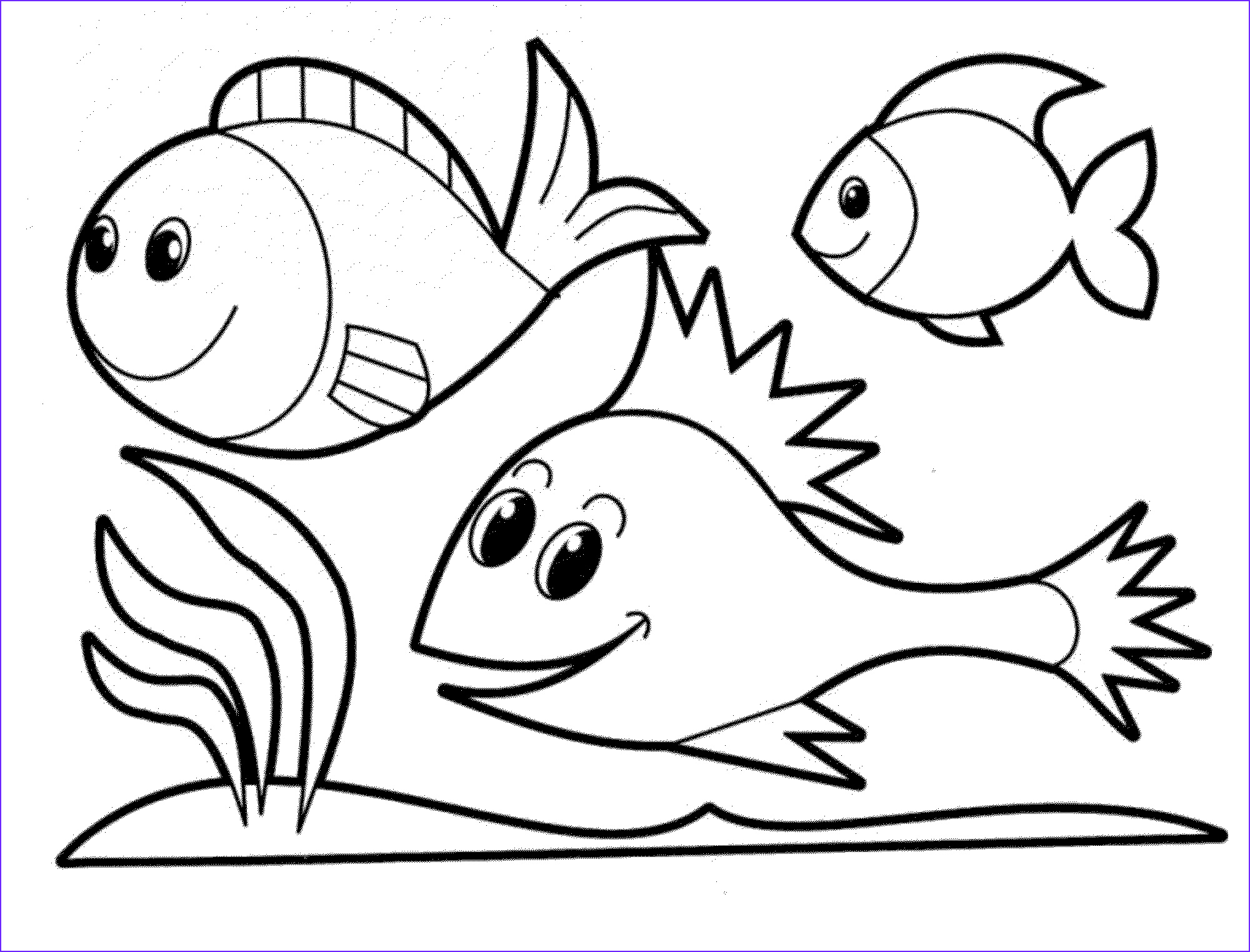 Fish Coloring Book Elegant Gallery Print & Download Cute and Educative Fish Coloring Pages