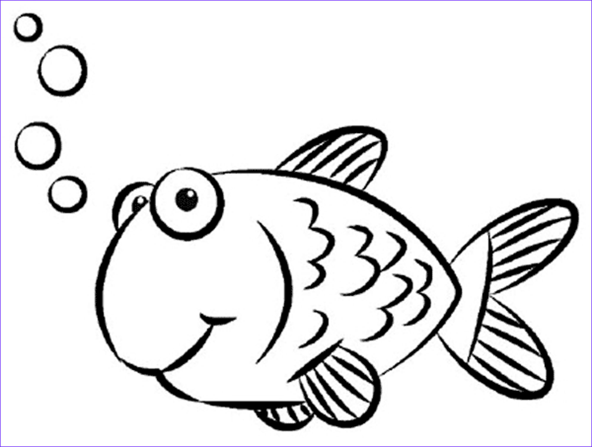 simple fish drawing for kids