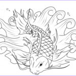 Fish Coloring Pages For Adults Elegant Image Free Drawn Koi Fish Gray Download Free Clip Art On Owipsco