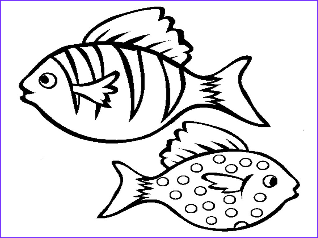 fish outlines for children