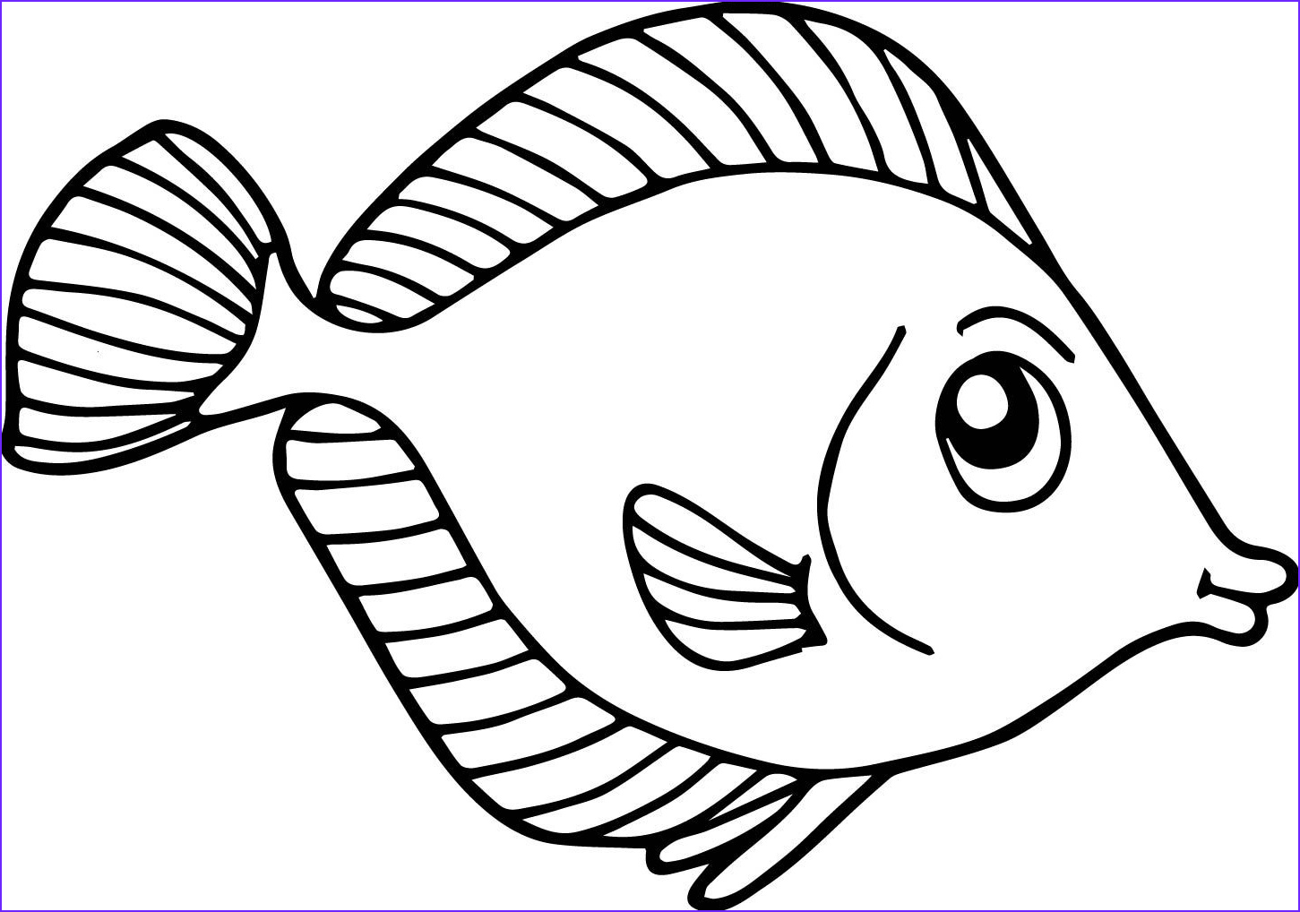 Fish Coloring Pages Pdf Elegant Photos Fish Coloring Pages for Kids Preschool and Kindergarten